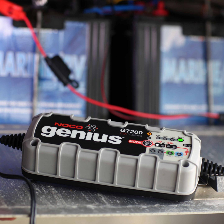 Ladegerät Noco Genius G7200 Repair 12V 24V Batterie Lader Auto PKW Motorrad
